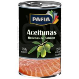 ACEITUNAS CON SALMÓN PAFIA 350g