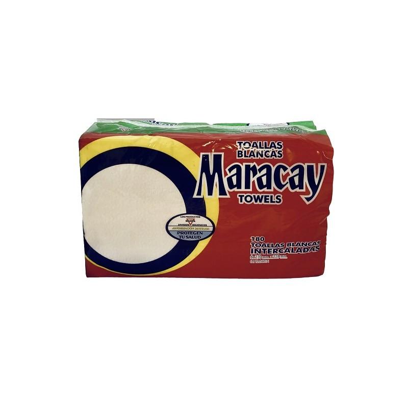 Toallas Blancas Intercaladas Maracay - 180 UND